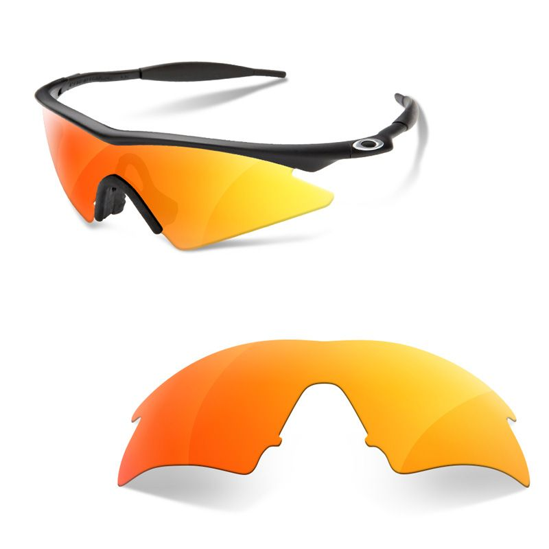 Oakley M Frame Sweep Fire Iridium Lens Louisiana Bucket