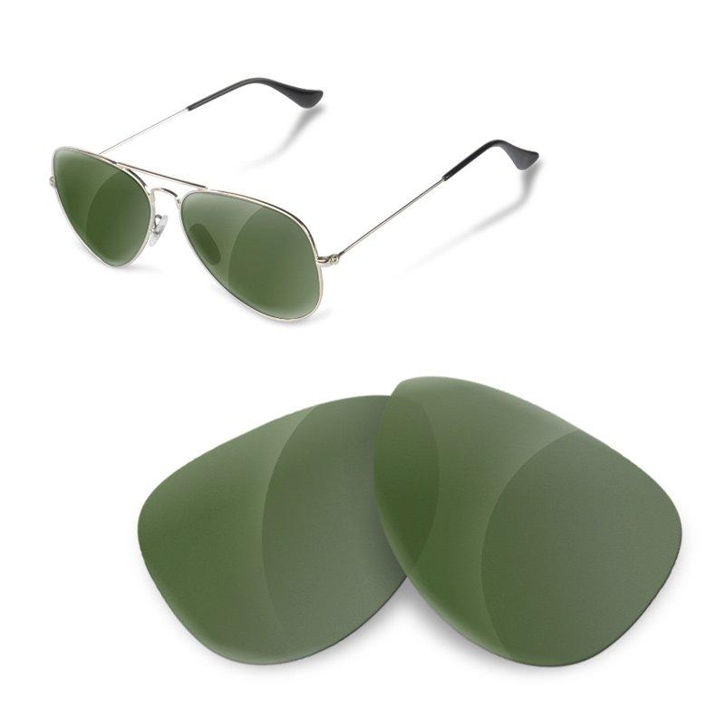 lentes ray ban aviator 3025 verde gafas de sol hombre